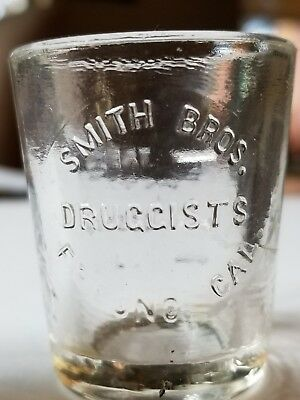 Smith Bros. Druggist Fresno Cal.  medical dose glass