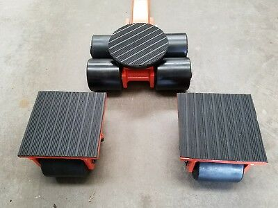 6 Ton heavy machine dolly skate set machinery roller mover cargo trolley