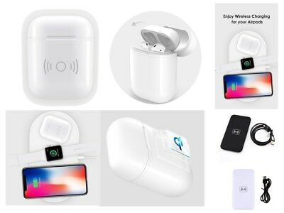2018 Wireless Charging Protective Case Box For AirPods Accessories+Mat LOT XL