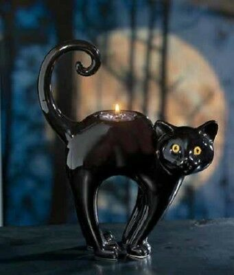 Yankee Candle BLACK CATS Tea Light Holder, New with Tag