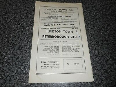 ILKESTON TOWN  v  PETERBOROUGH UNITED (pre-league)  1955/6 F.A.CUP QUALIFYING