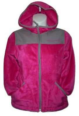 Girls Jacket Pink Stars Ages 5/6 & 7/8 Butter Pile Fleece Hooded Free Country