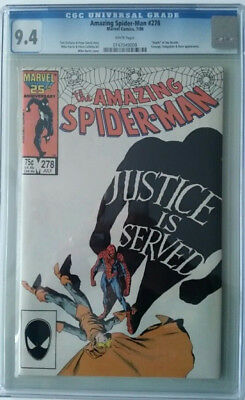 Amazing Spider-Man #278 - CGC Graded 9.4 - White Pages