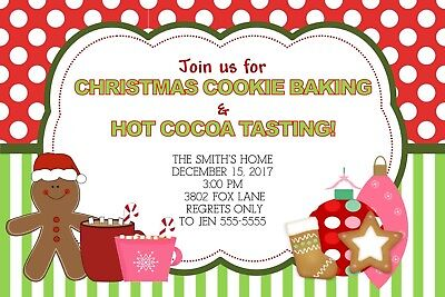 Cookies & Cocoa Holiday Christmas Party Invitation