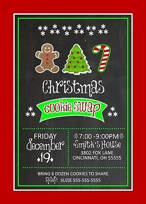 Cookie Swap Holiday Christmas Party Invitation