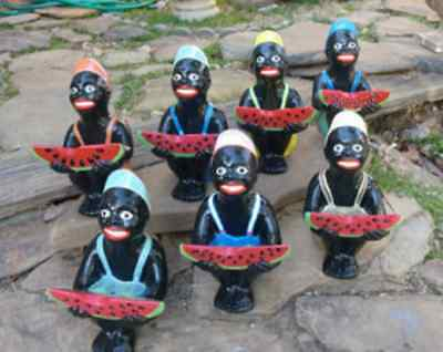 Black Watermelon Boy Statue Your Color Choice Of 1 Statue.(Lawn Jockey Cousin)