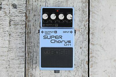 Boss CH-1 Stereo Super Chorus Electric Guitar Effects Pedal with FREE Cables