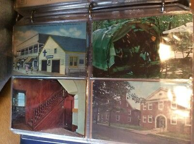 Vintage lot of 190+  postcards Album Early 1900 To Pre 2000 Historic