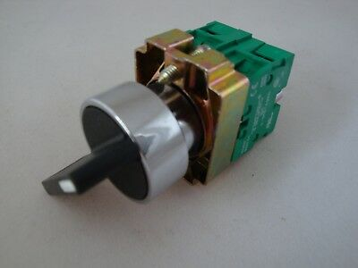 Selector Switch 3 Position Stayput  Extended Handle with 2 N/O Contacts