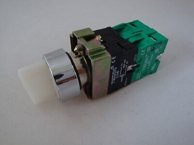 Illuminated Selector Switch 3 Position Stayput White with 2 N/O Contacts