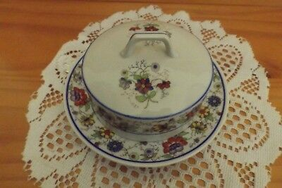 Antique/vintage Butter Dome/dish Floral Pattern Collectible Germany