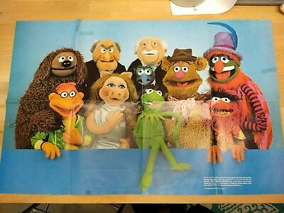 Vintage Muppets Poster 1979 National Geographic Society Puppet Portrait 2-Sided