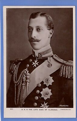 Old Vintage Rp Postcard Prince Albert Victor The Duke Of Clarence Royalty