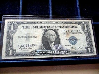 1935-E One Dollar Silver Certificate F22718455H In Circulated Condition I-24-18
