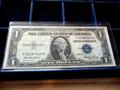 1935-E One Dollar Silver Certificate F01087919H In Circulated Condition I-24-18