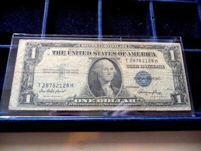 1935-E One Dollar Silver Certificate T28782128H In Circulated Condition I-24-18