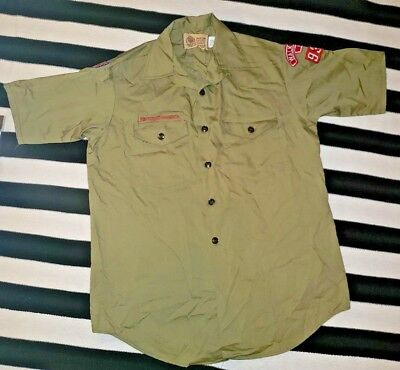 Boy Scouts Of America Button Down Uniform Shirt Russell Costume Dress Up Small
