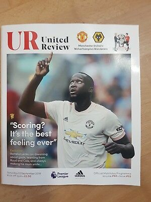 Manchester United v Wolverhampton Wanderers matchday programme