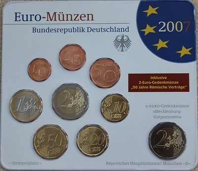 KMS Deutschland 2007 D, 5,88€, Stgl., in Blister