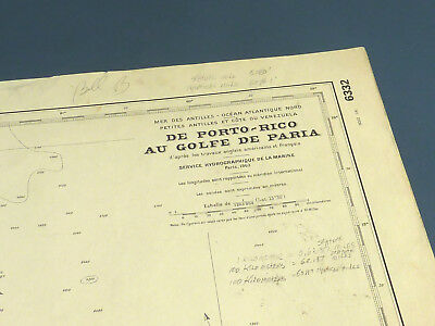 Nautical Chart French From Puerto Rico through the Lesser Antilles to north coas