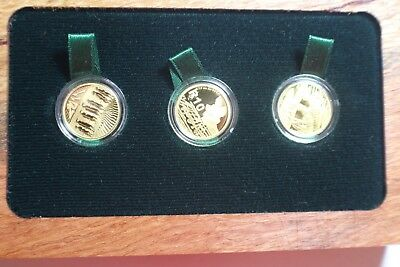 2011-2013 South Africa Natura Collectors' Set of 3 1/10 oz Gold