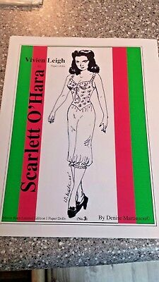 Paperdolls Vivien Leigh Gone With The Wind Scarlett O'Hara Hollywood Star