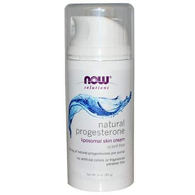 Now Foods - Natural Progesterone, unscented Lipsomal Skin Cream, 3 Ounces