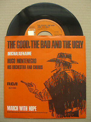"""7"""" Single - Hugo Montenegro - The Good, the Bad and the Ugly (Morricone)"""