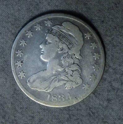 1834 Capped Bust Half Dollar Very Good Condition