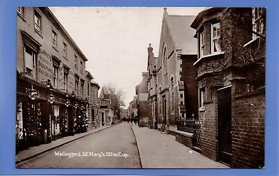 Old Vintage 1911 Rp Postcard St Mary's Street Wallingford Oxfordshire