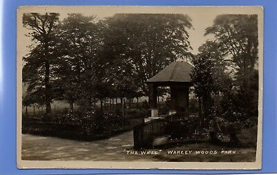 Old Vintage 1921 Rp Postcard The Well Warley Woods Park Staffordshire