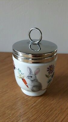"""One Royal Worcester  Double Egg Coddler  """"skippety Tale"""" Pattern"""