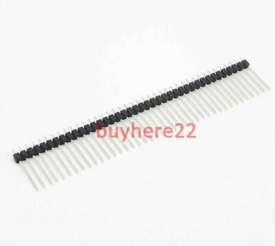 "40 Pin 2.54mm 0.1"" 19mm Long single row Male Breakable Pin Header NEW UK Seller"