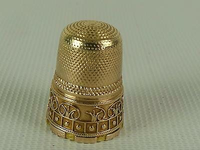 (ref165DA)  Amazing Early Antique 15ct Gold Thimble