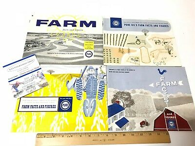 4 Pure Oil Farm Facts Record Keeping Books in Great Shape from 1957 60 61 & 62