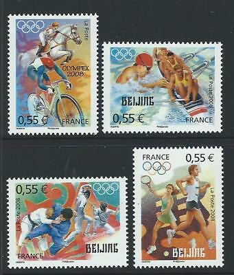 2008 FRANCE Beijing Olympics Set MNH (Scott 3495-3498)