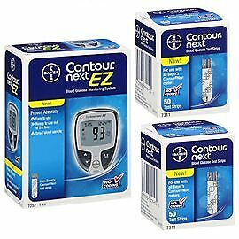 1 Bayer Contour Next EZ meter and 2 Contour Next Test Strips Box of 50