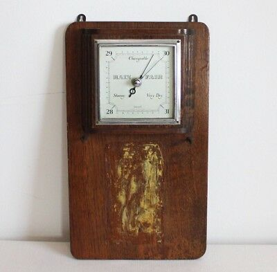Antique home weather station Vintage Wall barometer Wood Smiths English England