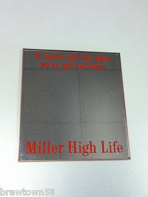 Miller High Life beer sign mirror bar signs 1 Milwaukee brewery brewing  GP2
