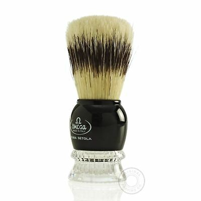 OMEGA PROFESSIONAL PURE BRISTLE SHAVING BRUSH NATURAL HAIR Wet Lather Soap Shave