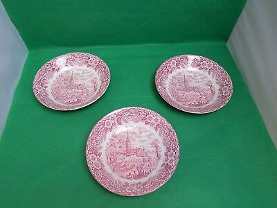 Broadhurst Constable Series Pink Soup Bowls x 3
