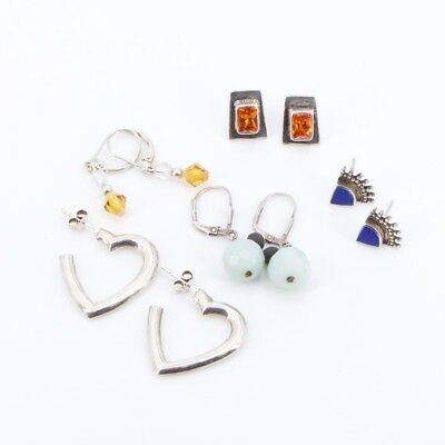 VTG Sterling Silver - Lot of 5 Assorted Earring Pairs NOT SCRAP - 13g