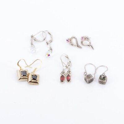 VTG Sterling Silver - Lot of 5 Assorted Earring Pairs NOT SCRAP - 14g