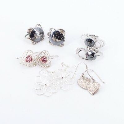 VTG Sterling Silver - Lot of 5 Assorted Earring Pairs NOT SCRAP - 20g
