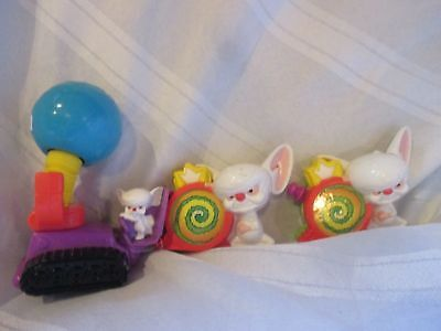 Pinky and the Brain vintage toy group of 3 Animaniacs