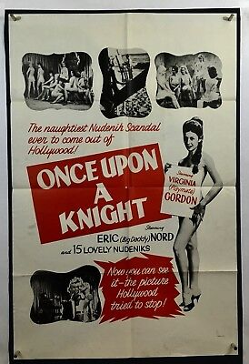 ONCE UPON A NIGHT Movie Poster (VeryGood) One Sheet 1961 Sexploitation 1230