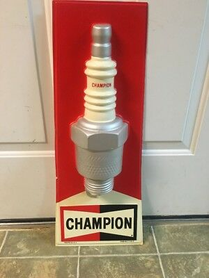 Orginal Champion Spark Plug Advertising Sign Gas And Oil