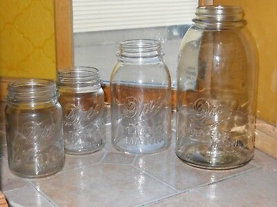 SET of DREY Mason Jars - Half Gallon, Quart, and 2 Pint Jars!