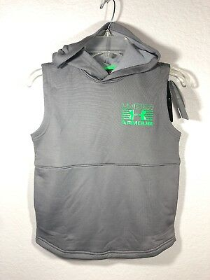 NWT Under Armour Boys' Train to Game Sleeveless Hoodie YSM 7/8