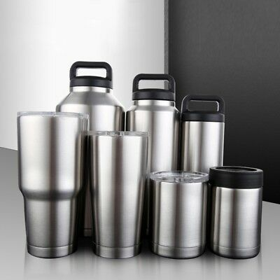 Travel Mug Stainless Steel Thermos Coffee Water Bottle Warm/Cold Keeper 10-64oz